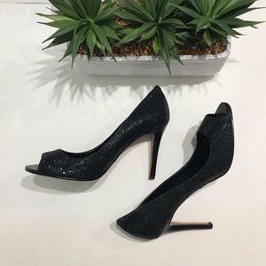 Enzo Angiolini Sparkle Open Toe heels